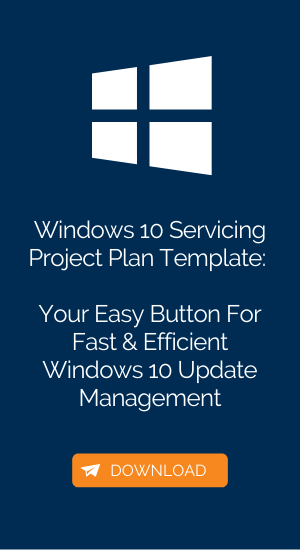 Windows 10 Servicing Project Plan Template CTA